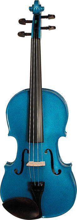 Stentor Harlequin Series Violin Outfit Blue, Front