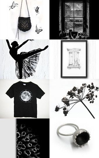 Black and White Beauty by Nicole Fekaris on Etsy--Pinned with TreasuryPin.com
