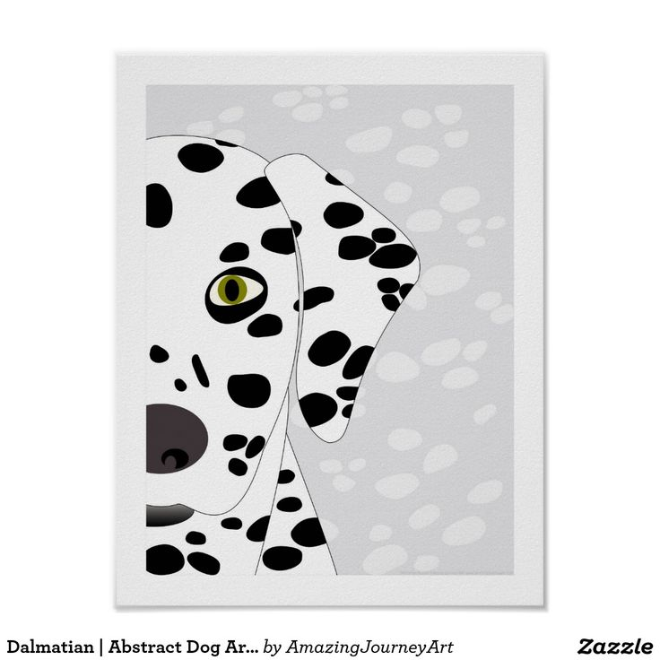 Dalmatian   Abstract Dog Art - White and Grey Art