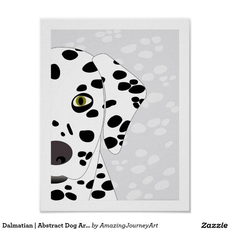 Dalmatian | Abstract Dog Art - White and Grey Art