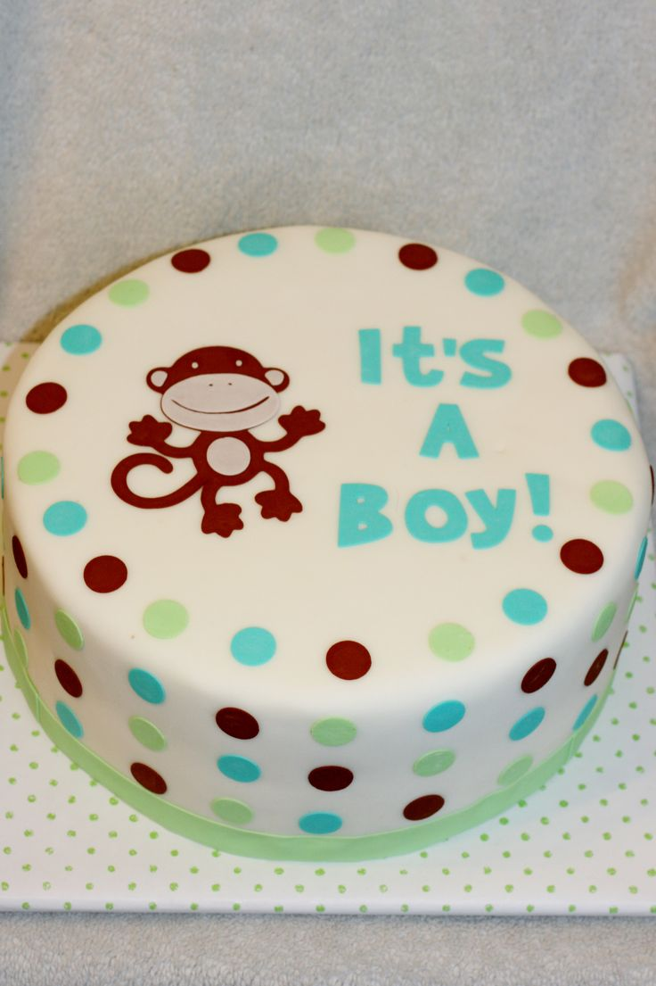 Monkey baby shower cakes for baby 2 421 3 635 pixels baby shower ideas and gifts - Monkey baby shower cakes for boys ...