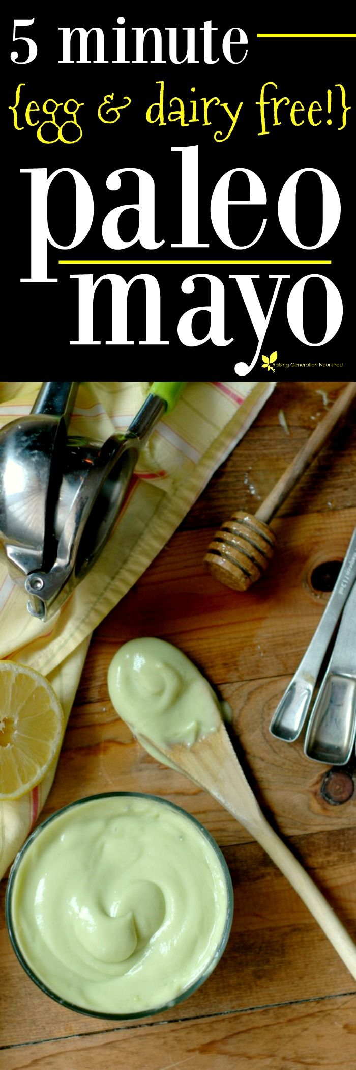 Homemade Paleo Mayonnaise :: Free from common allergens! {Egg, Dairy, Soy, & Gluten Free!}