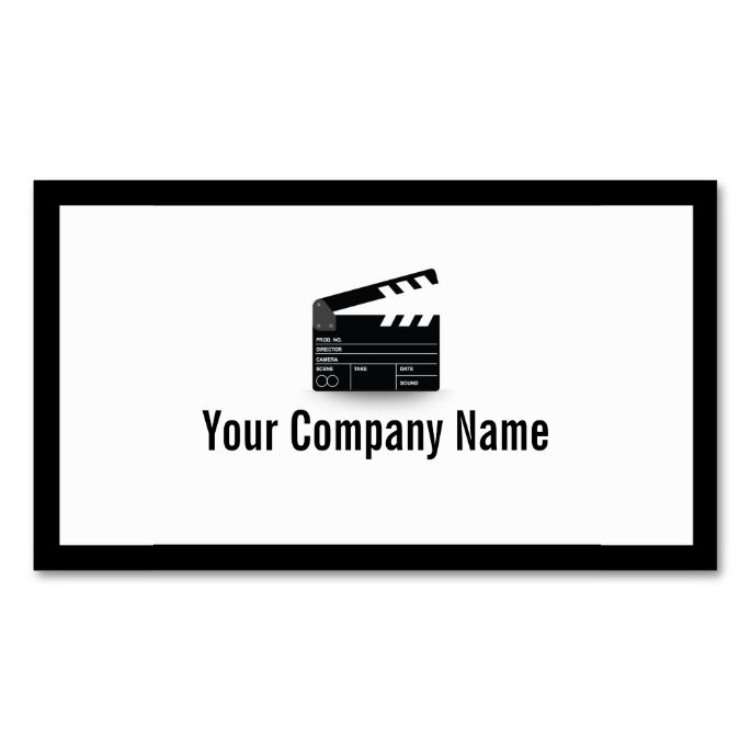 2263 best bold text business card templates images on pinterest bold border clapperboard director business card i love this design it is available for reheart Image collections