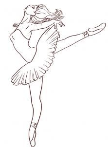 How to Draw a Ballerina, Step by Step, Figures, People, FREE Online Drawing Tutorial, Added by Dawn, April 13, 2009, 4:18:43 am