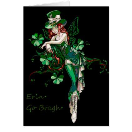 Erin Go Bragh St Patrick's Day Card - st. patricks day gifts irish ireland green fun party diy custom holiday