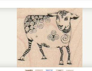Sheep lamb tangle Steampunk Stamp whimsical Rubber Stamp by Mary Vogel Lozinak 18979 Gummistempel by pinksewingroom on Etsy