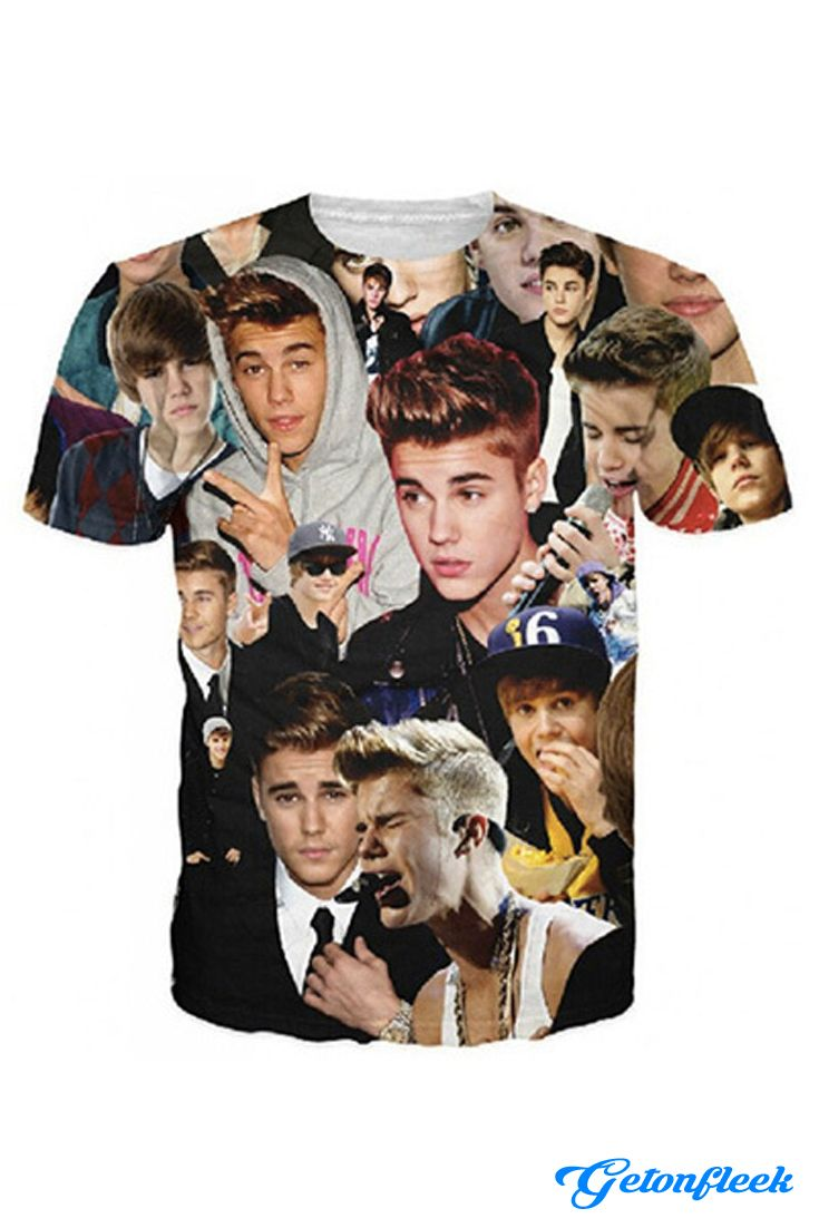 Justin Bieber Tee - Shop the largest all over print clothing store today! www.getonfleek.com