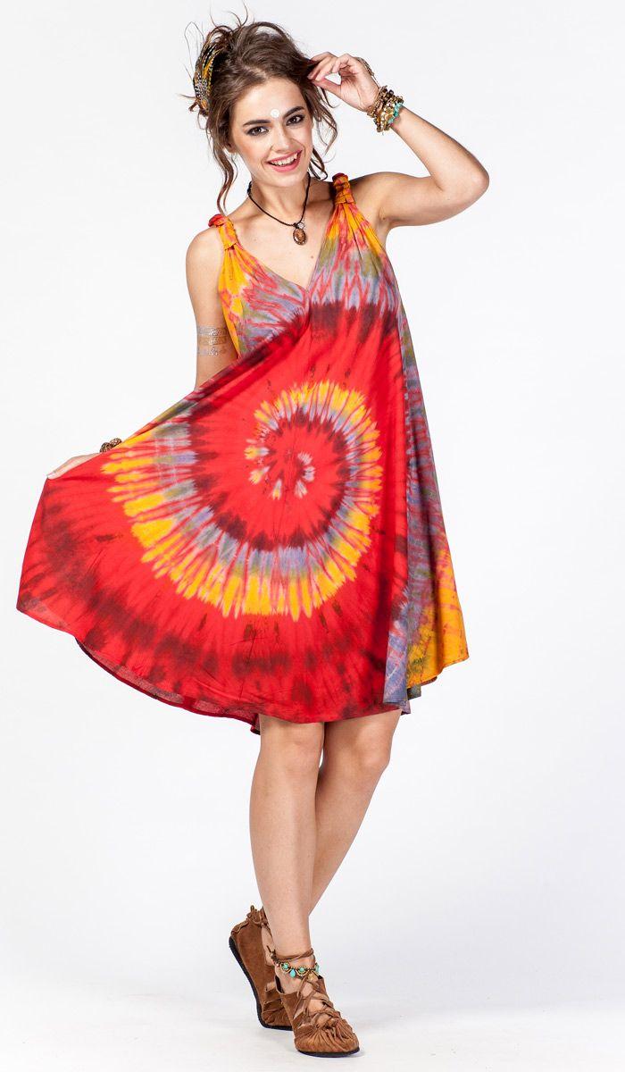 летнее платье, одежда в этническом стиле, одежда из Индии, Таиланд, узелковый батик, тай-дай, бохо стиль, хиппи, яркое платье, boho, hippie Style, India dress, tie-dye, ethnic clothing. 1980 рублей