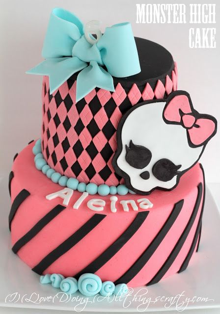 Monster High Themed Birthday Cake