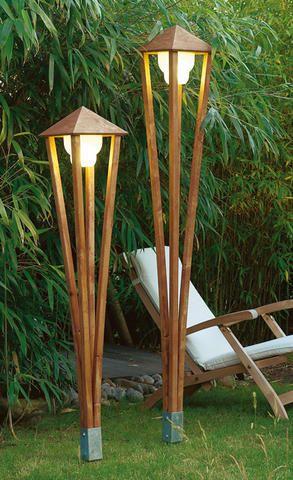 Китайские солдатики: самодельный стильный деревянный светильник в тихом уголке тенистого сада - Когда окутывают сумерки наш сад и наполняют тайнами в ночи, он оживает вспышками гирлянд и тихим светом трепетной свечи - Форум-Град