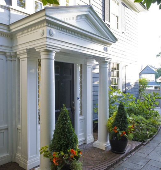 Georgian Colonial Entryway Design Exterior Entrys