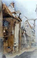 A street in Abbeville, North France by John Ruskin