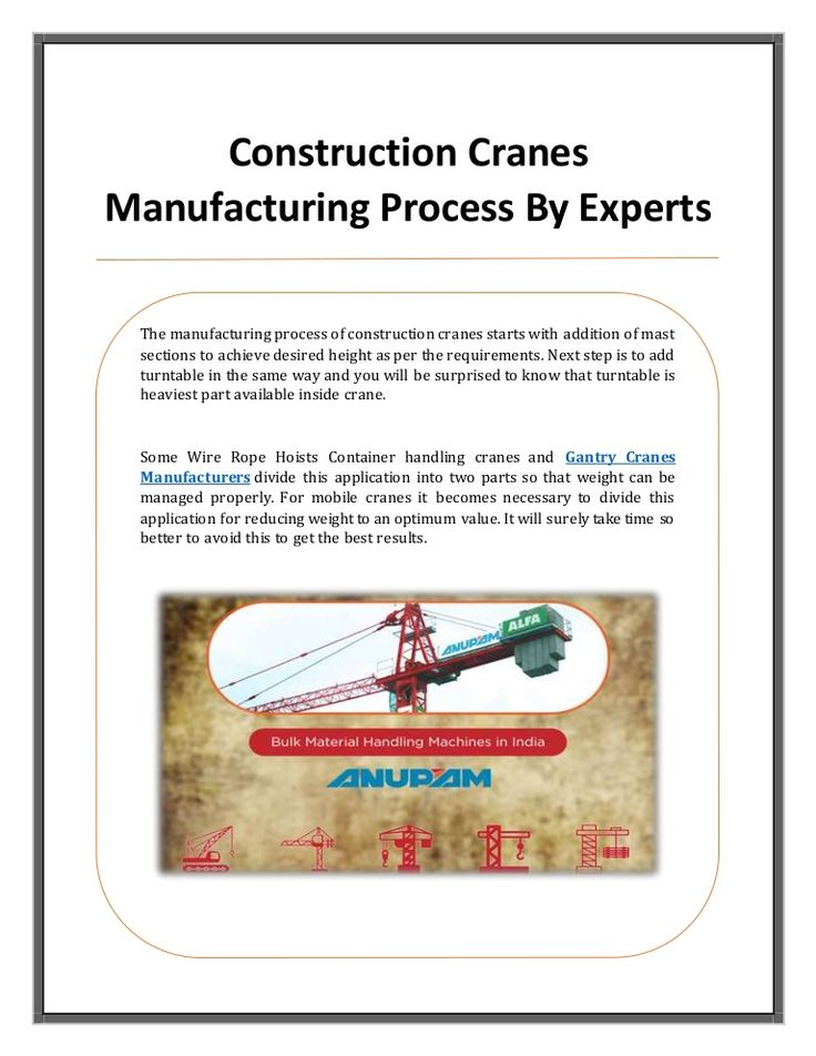 7 best Crane Manufacturer images on Pinterest   Crane, Building and ...