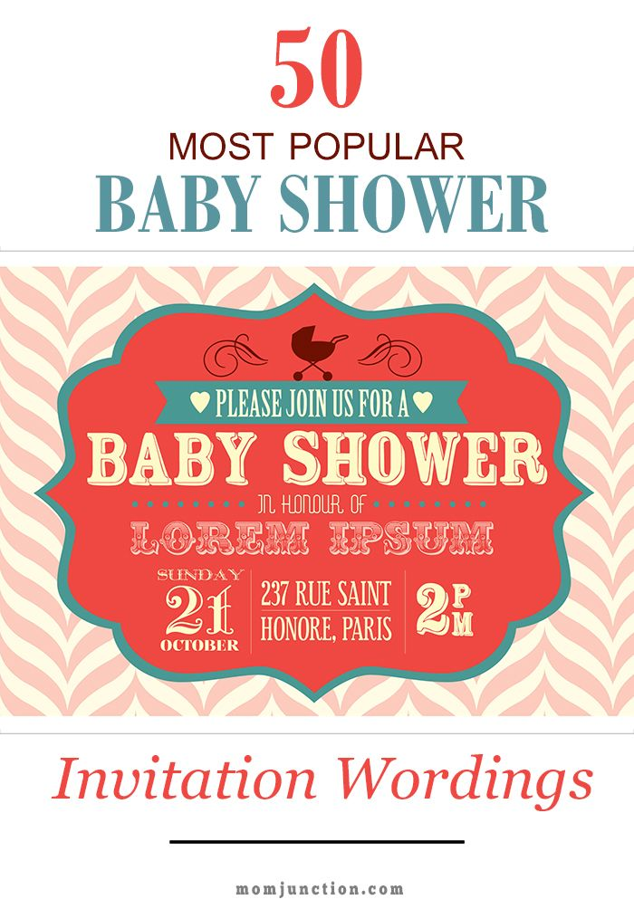 1000 ideas about Baby Shower Invitation Wording – Baby Shower Invitation Words