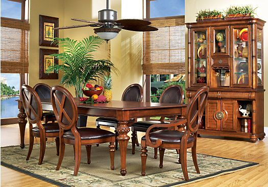 shop for a cindy crawford key west dark pine 5pc leg dining room