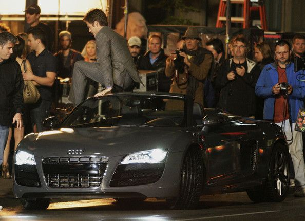 "Actress Reese Witherspoon and Chris Pine film a scene for ""This Means War"" outside the Barcelona nightclub in Vancouver, Canada."