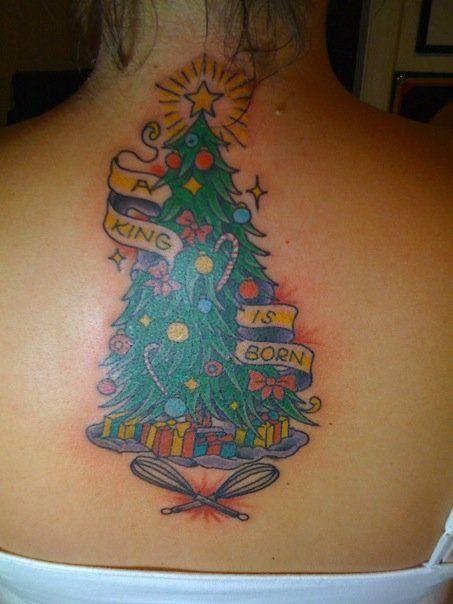 Самые невероятные новогодние и рождественские тату: grimnir74