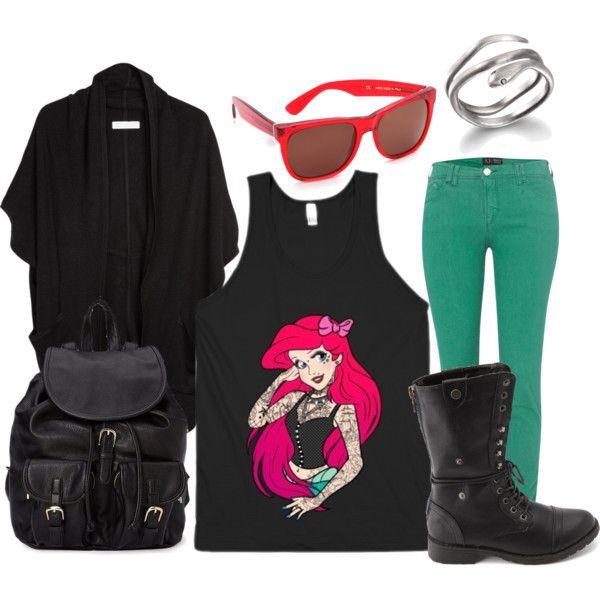 """Punk Princess Ariel"" by lieslzhenderson on Polyvore"