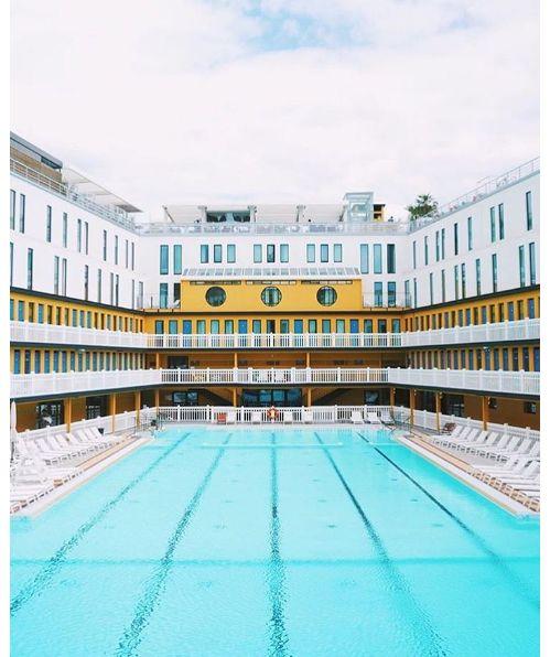la piscine de l'hôtel Molitor