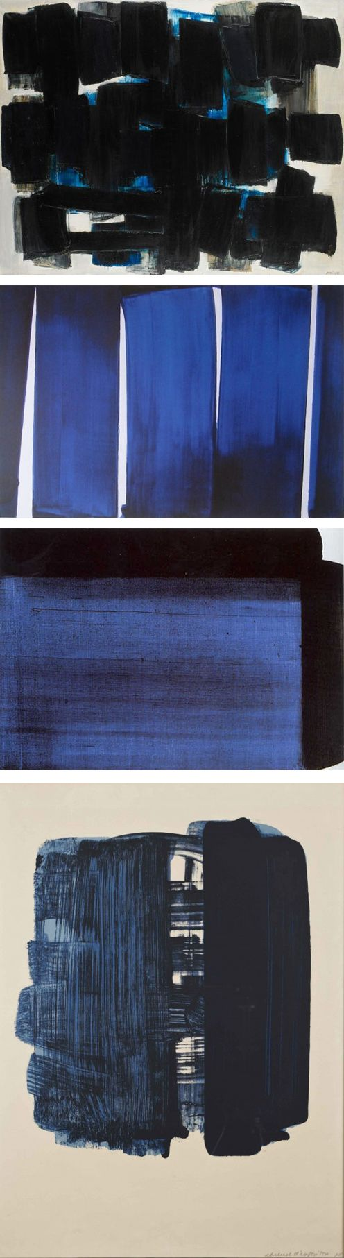 Soulages is a French Painter (1919) known for his contributions to the European abstract art movement.