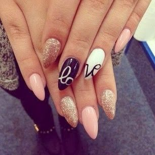 Love is in the air...especially with these nails on!!!