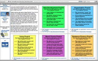 6 Traits of Writing Post-It note printouts.  Free!
