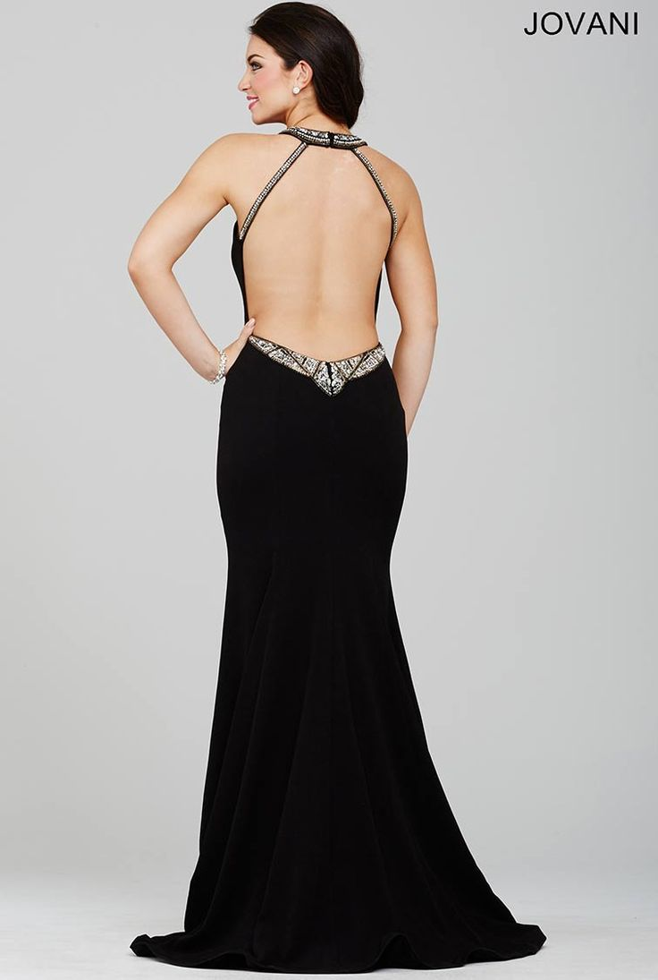 Black Low Back Prom Dress 32466 - Prom Dresses