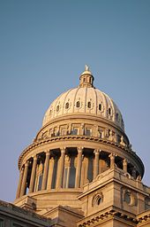 Dome of the capitol building, Boise, Idaho
