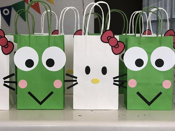 O Kitty Birthday Party Set Of 10 Favors Bags Goo Goody Loot Candy Treats Supplies Decorations Fiesta Gifts Favor And