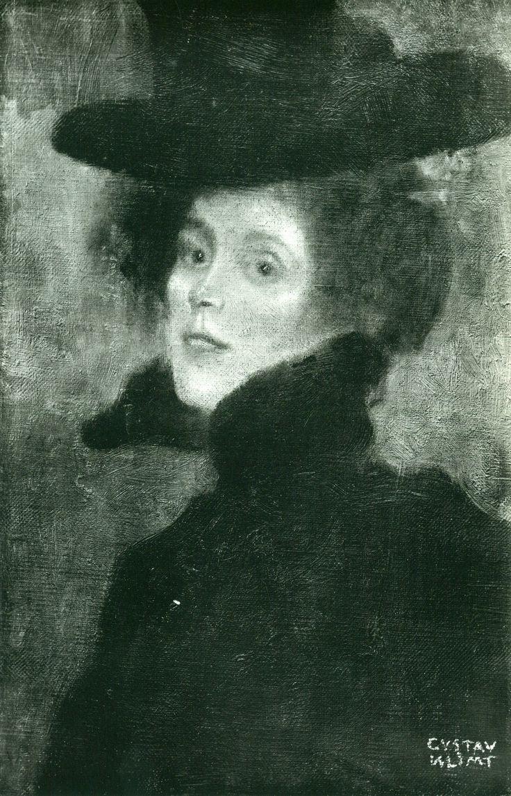Gustav klimt oil painting on canvas early works damenbildnis mit rotem hintergrund 1897 klimt gallery