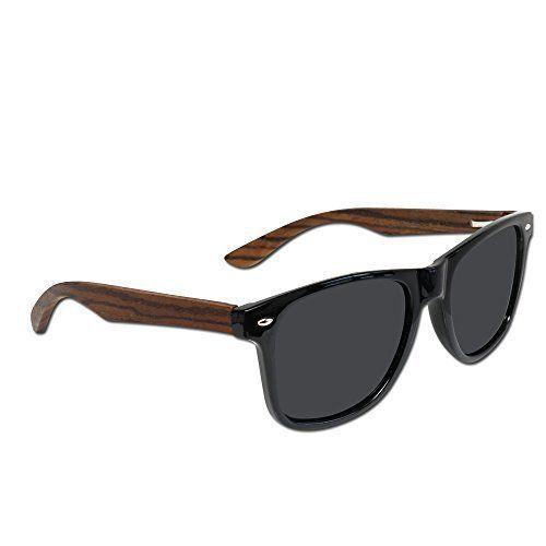 2b67883186954 Eye Love Polarized Wood Sunglasses for Men   Women with 100% UV Blocking HD  Lenses