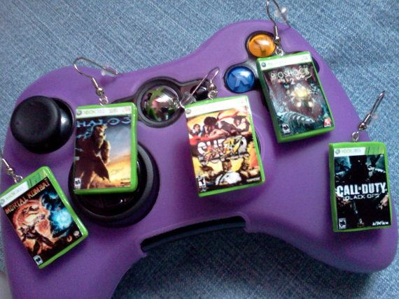 Xbox 360 Game Case Earrings  Pick your own games by Geek Castle, $9.00