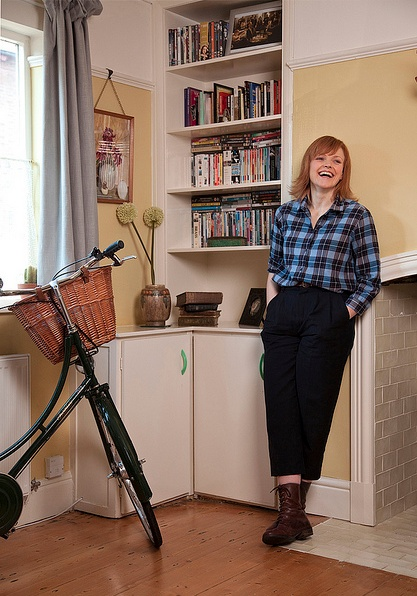 Maxine Peake at home. Image: Claire Wood, 2010.