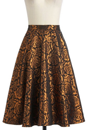 """12 Fancy-Pants Brocade Pieces That'll Make You Feel Like Royalty  """"Songs by the fire"""" skirt - Modcloth"""