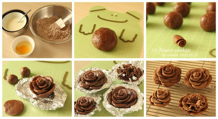3D flower cookie copyright (c) Colacat