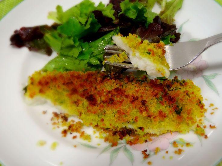 Ponto de Rebuçado Receitas: Filetes de peixe espada preto com crosta de ervas e açafrão