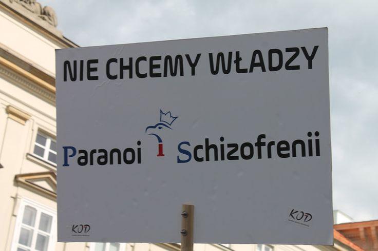 Kaczyński porównany do Hitlera! Wałęsa prawdziwym Polakiem! Transparenty KOD na manifestacji. Galeria