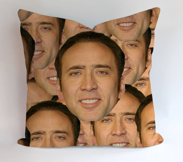 Nicolas Cage Face Swap Pillowcases Pillow Cases Covers Square Design Home Decoration