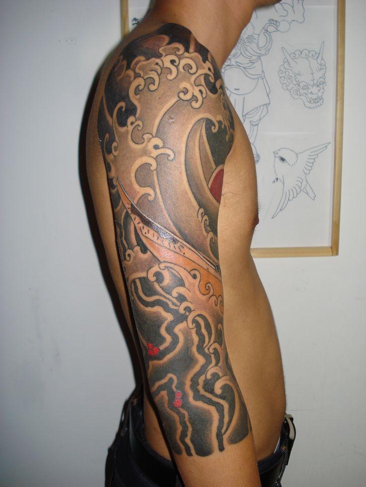 25+ best ideas about Japanese Wave Tattoos on Pinterest ... Uberhaxornova Tattoo Sleeve