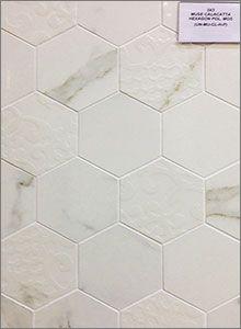 Muse Calacatta Polshed Hexagon Mosaic Backsplash Tiles
