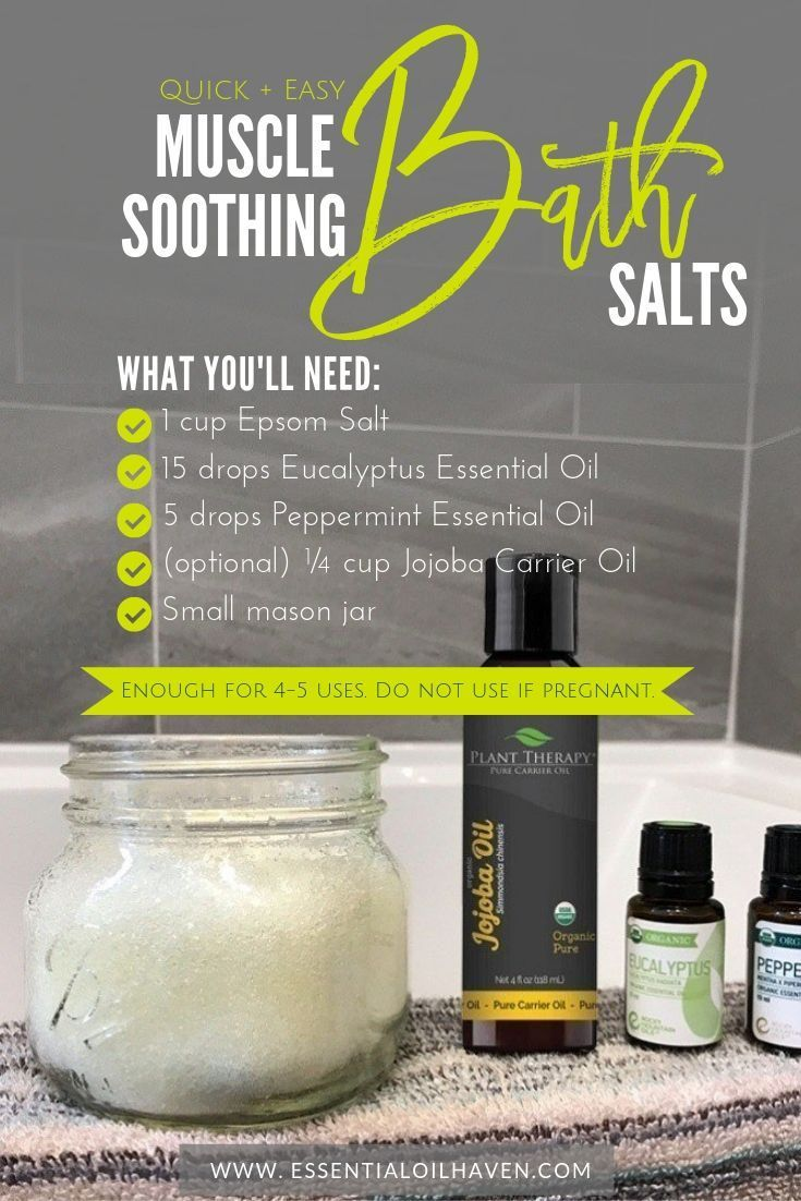 DIY Muscle-Soothing Bath Salts Recipe with Essential Oils and ...