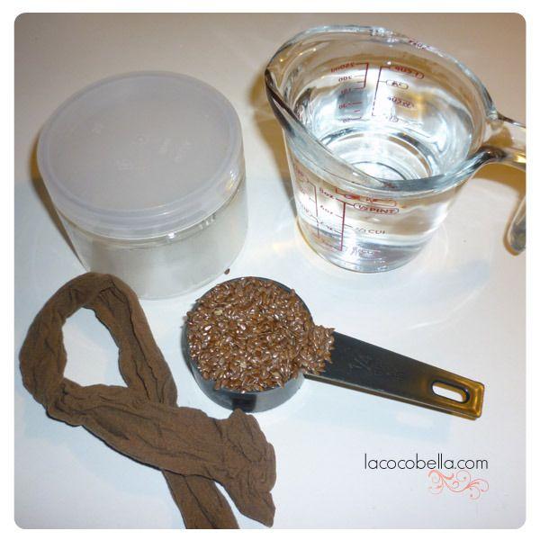Homemade flaxseed hairgel - Gel pour les cheveux à la graine de lin (tenue, volume et traitement capillaire tout en un!)