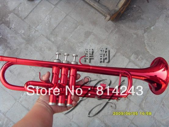171.00$  Watch here - http://aliv4q.shopchina.info/1/go.php?t=689478188 - Custom Bb Trumpet Small Brass Instruments Surface Big Red Bb Trumpet  Professional Trompete Musical Instrument 171.00$ #magazineonline