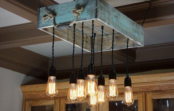 M s de 1000 ideas sobre lamparas de techo rusticas en - Lamparas de techo hechas en casa ...