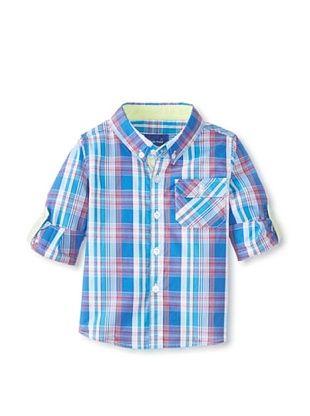 30% OFF Beetle & Thread Kid's Plaid Shirt (Blue)