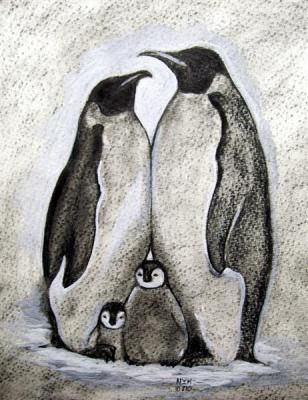 Penguins Drawing