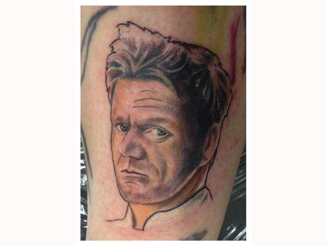 7 best celebrity chef fan tattoos images on pinterest for Die hard tattoo albany oregon