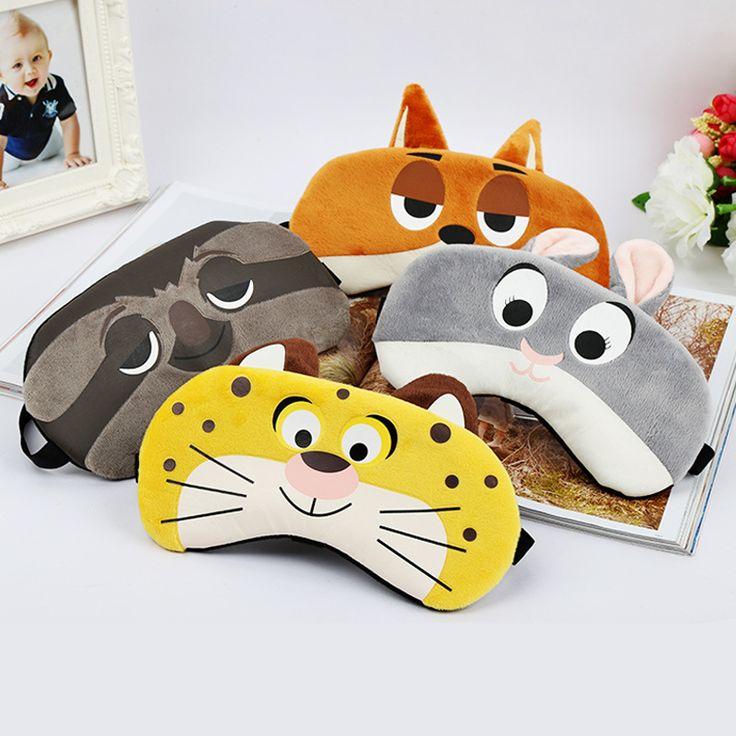 1 PCS Kelinci/Tiger/Fox/Sloth Masker Tidur Istirahat Travel Blindfold Relax Sleeping Aid Es Penutup Mata Patch Tidur Masker Kasus