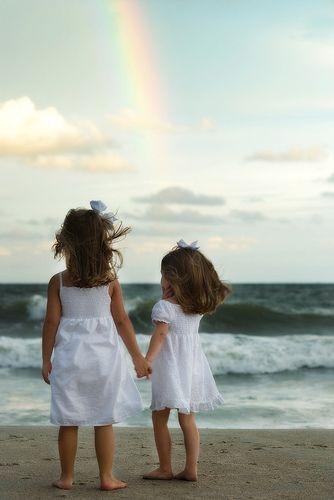 Little girls looking at rainbow | www.myrtlebeachphotography… | Flickr