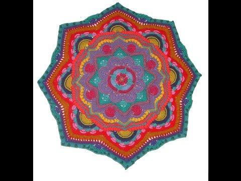 Crochet Mandala Madness Parte 8 paso a paso en español - YouTube